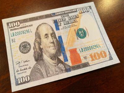 realistic money card